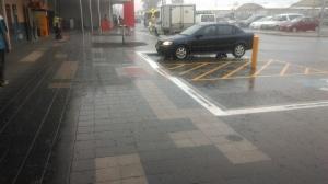 Just a bit wet!