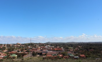 The town from The Hill