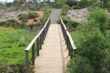 The other bridge at the back of the wetlands