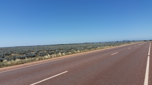 Eyre Highway west of town.