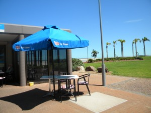 The Foreshore Cafe and the Umbrella